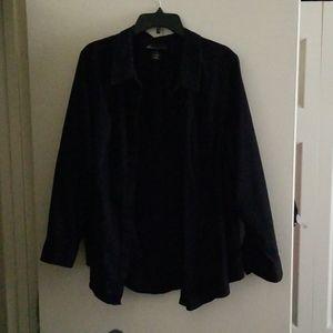 Lane Bryant sz 28 long sleeve button down shirt
